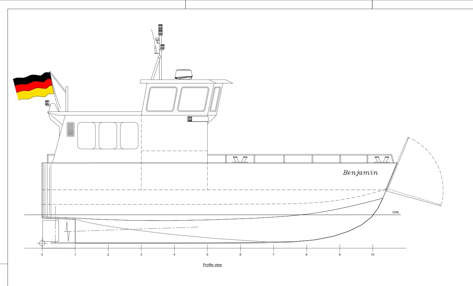 Design no. 176 9.99 m Water Taxi