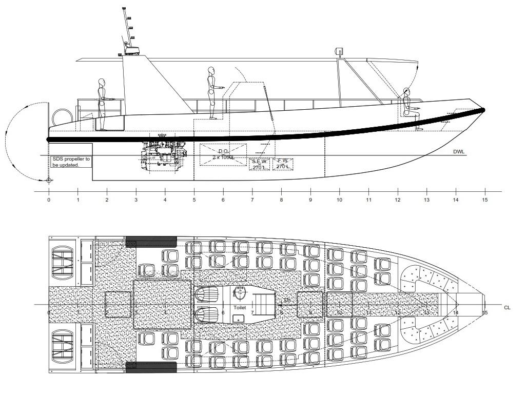 Design no. 183 – High Speed Passenger Vessel