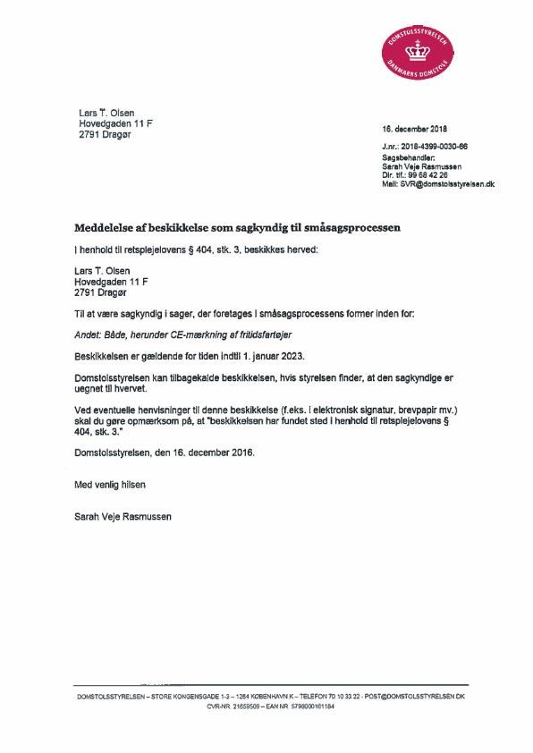 CE godkendelser certifikat 2020