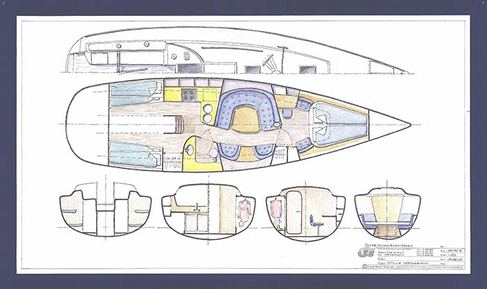 Design af skibsskrog skitsering
